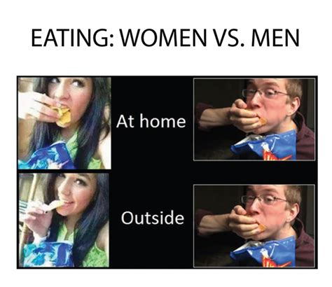 Men Memes - eating women vs men