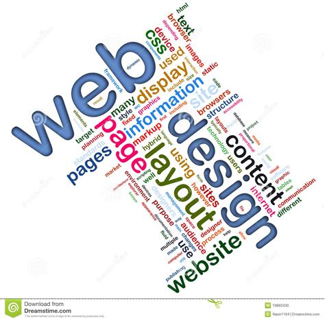 design word definition wordcloud of web design stock photo image 19893430