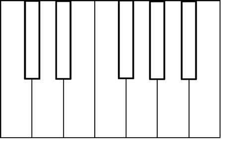 coloring page piano keys colorful piano keyboard clipart 23
