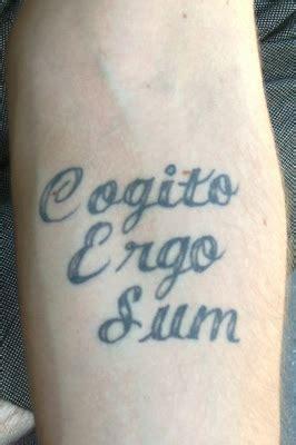 cogito ergo sum tattoo tattoosday a cogito chuck robbins literary