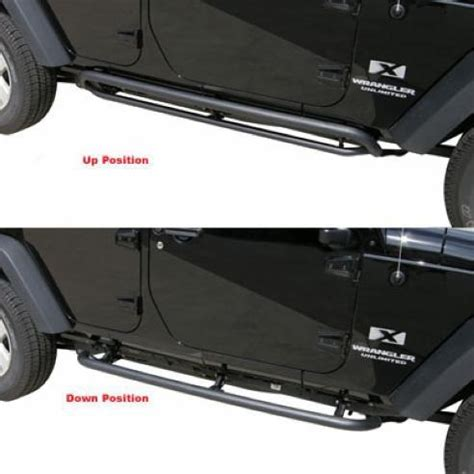 Rage Side Steps Jeep Wrangler All Things Jeep Srs Side Bar Retractable Rockslider Step