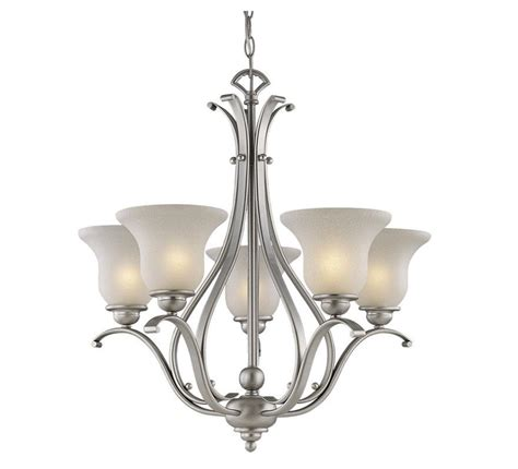 vaxcel 5 l brushed nickel monrovia chandelier lighting