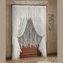 Christmas Valances Window Treatments - wisteria arbor lace window treatments