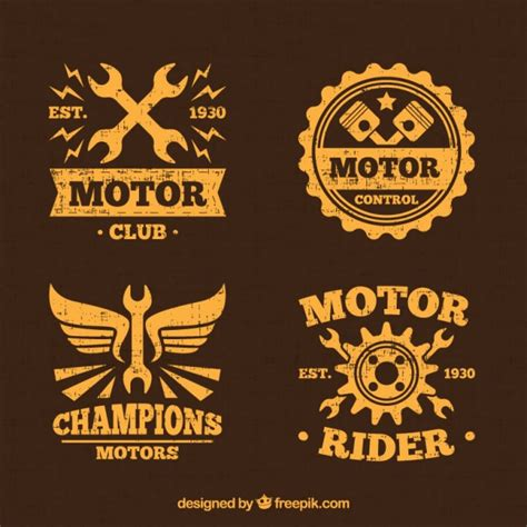 motors logo yellow motor logos vector free