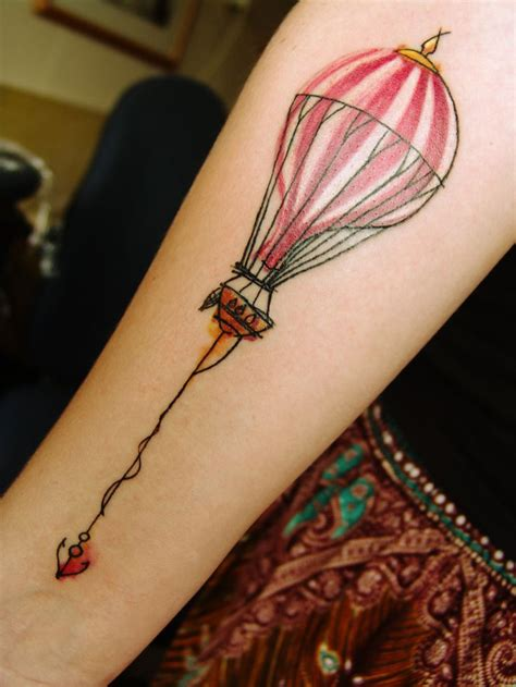 watercolor tattoo netherlands air balloon and anchor watercolor mara
