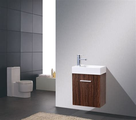 Modern Walnut Bathroom Vanity Bliss 18 Walnut Wall Mounted Modern Bathroom Vanity