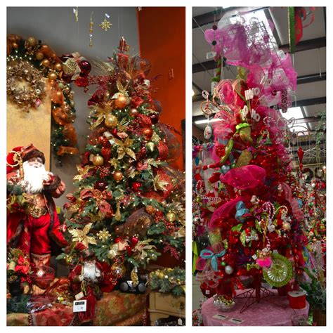 christmas tree decorating ideas with ribbon and mesh