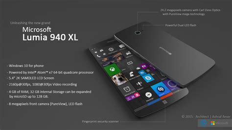 microsoft lumia 940 xl gets a fresh vision and design from ashraf amer concept phones
