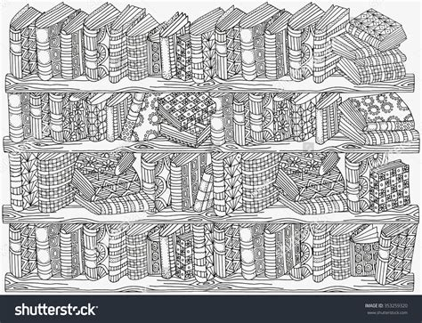 cabins in the woods grayscale coloring book books pattern coloring book a4 size artistically stock vector