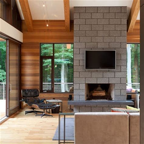 Concrete Block Fireplace concrete block fireplace home inspiration