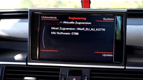Audi Mmi Update by Audi Mmi 3g Engineering Menu