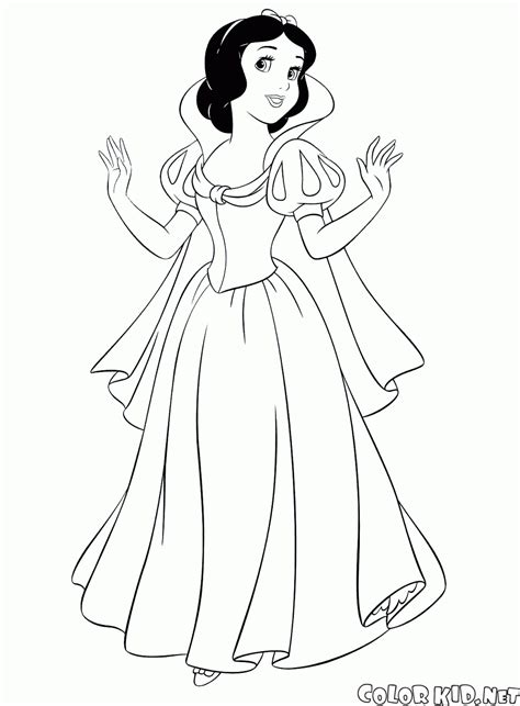 Coloring Page Snow White And The Seven Dwarfs Images Of Princess Snow White Printable
