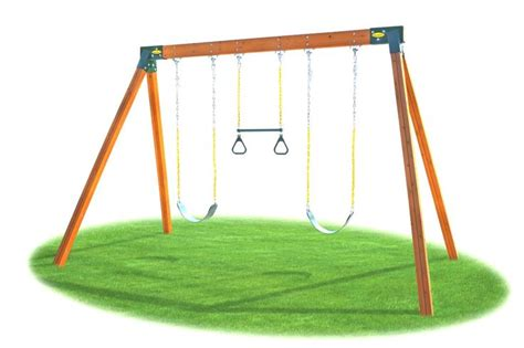 swing set kit easy 1 2 3 a frame swing set bracket individual swing