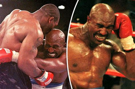 biting a s ear mike tyson reveals what he did to evander holyfield s ear after bite daily
