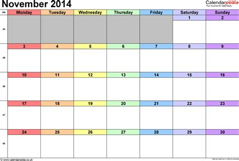 word calendar templates 2014 2014 calendar november uk calendar