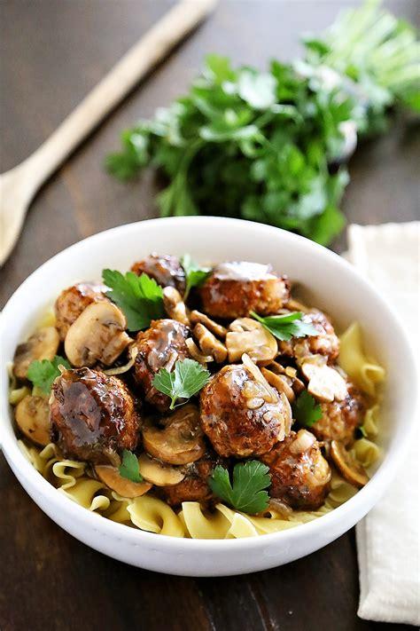 comfort of cooking chicken marsala meatballs
