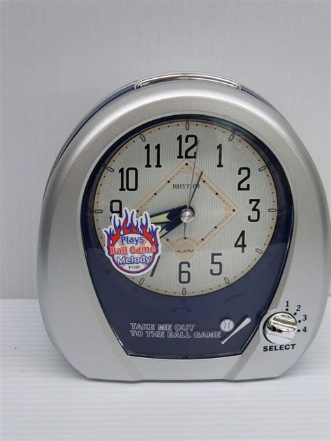 rhythm alarm clock baseball alarm with four melodies 4rm759wd19 ebay