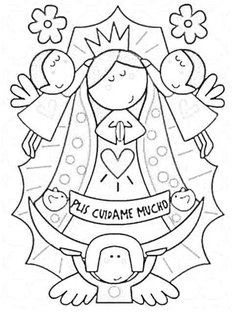 Free Coloring Pages Of Our Lady Of Guadalupe Coloring Book Imagenes De La Virgen De Guadalupe Para Colorear