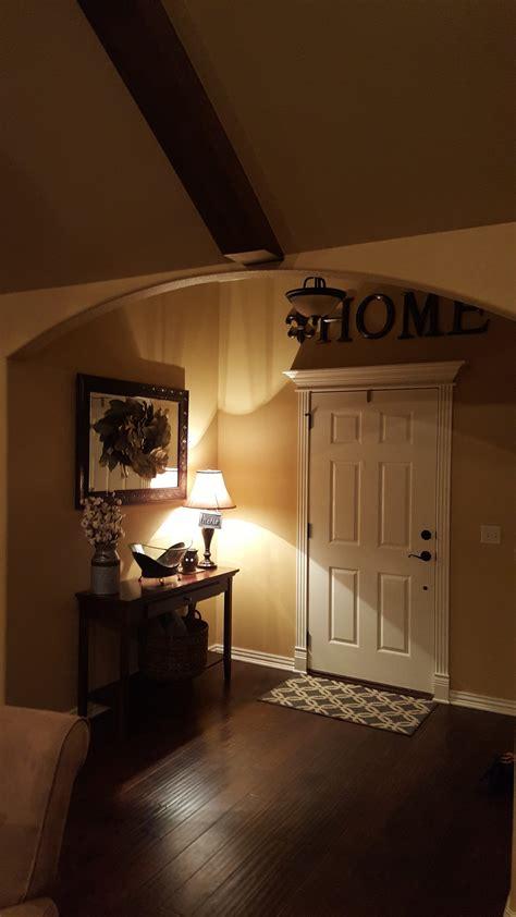 dark room  amber glass light fixtures