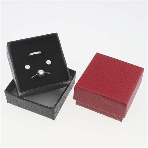 custom jewelry packaging box with black velvet pad insert