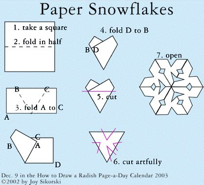 How Do You Fold Paper To Cut A Snowflake - paper snowflakes marla s page
