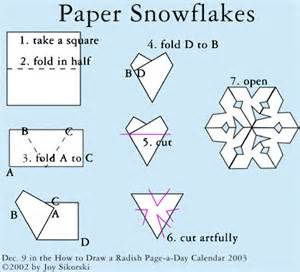 Folding A Paper Snowflake - paper snowflakes marla s page