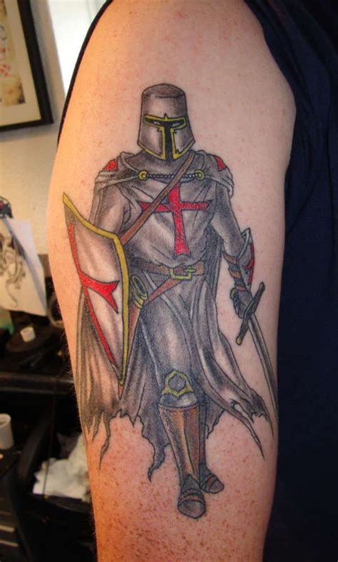 knight and dragon tattoo designs heaven light templar knights tattoos
