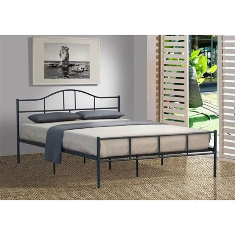 king single bed frame size jovy king single size metal bed frame in grey buy