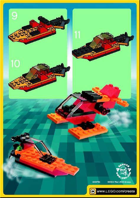 lego boat orange lego instructions for orange speedboat polybag 7218 1