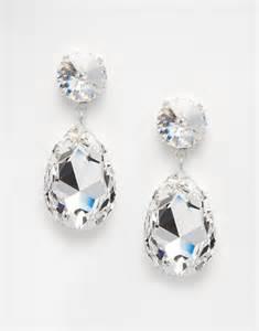 pear drop earrings swarovski pear drop earrings at asos