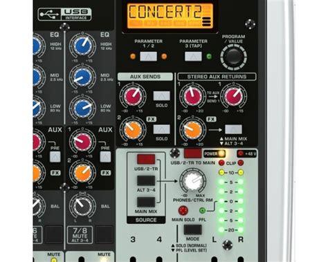 Mixer Behringer Qx1204 behringer xenyx qx1204 usb mixer 12 ingressi 4 compressori 2 effetti klark teknik 48v