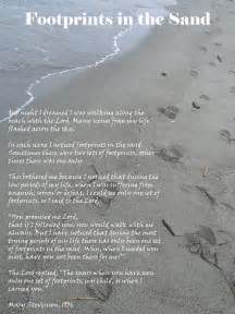 Footprints in the sand poem printable version collection of picture