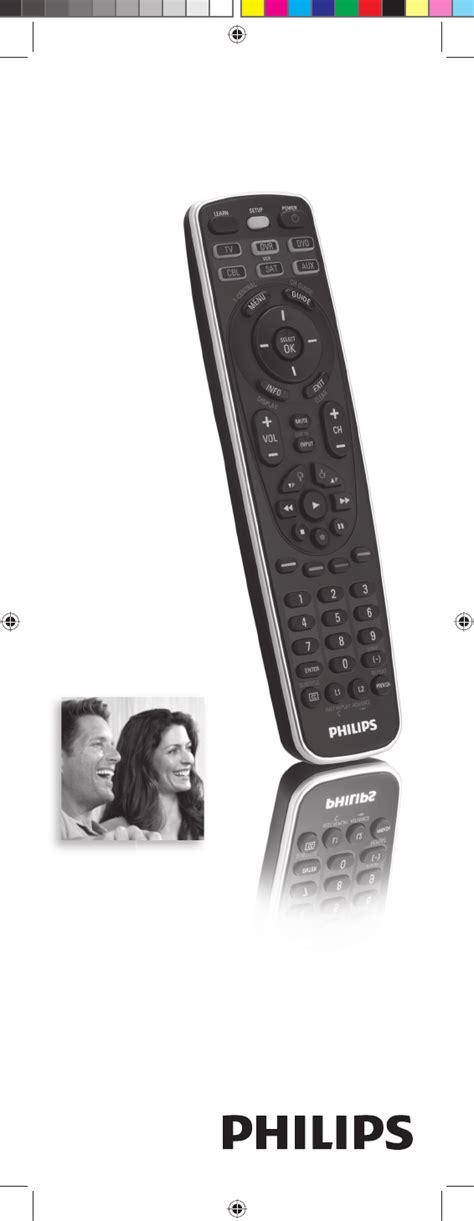 Philips Universal Remote Sru5106 27 User Guide