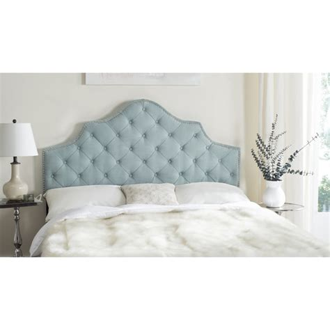 Blue Headboard by Safavieh Arebelle Sky Blue Upholstered Tufted Headboard