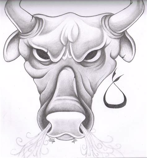 angry bull tattoo design taurus tattoos and designs page 9