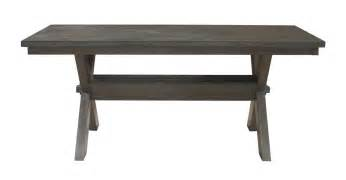 powell turino rectangle dining table in grey oak beyond