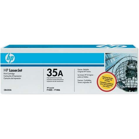 Hp Toner 35a Cb435a Original Black hp toner cartridge 35a cb435a original black 1500 pages