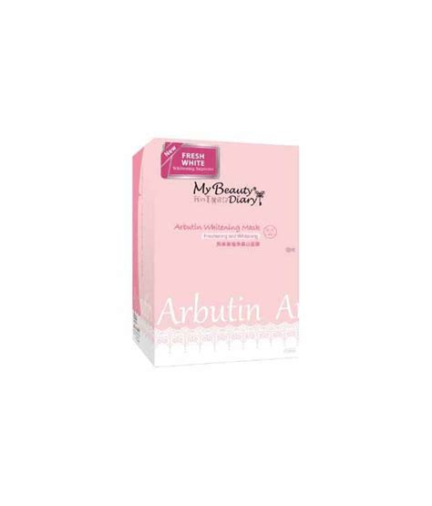 my diary arbutin whitening mask 10 pcs hic buy my