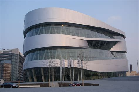 Mercedes Museum Stuttgart Germany by Stuttgart Germany Mercedes Museum Outside View