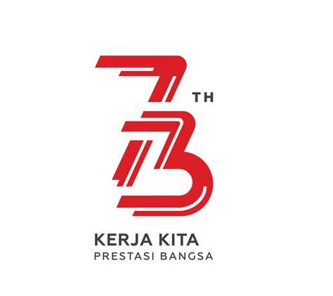 Kaos White Putih Kata Dan Gambar ini logo hut ke 73 ri bertema kerja dan energi