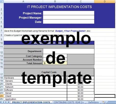 budget template declara 231 227 o de escopo controle de or 231 amento templates