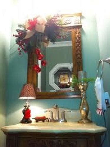 decorate bathroom mirror how to decorate a bathroom mirror for christmas 5 ideas