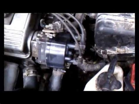 change the distributor cap on a 96 toyota corolla youtube