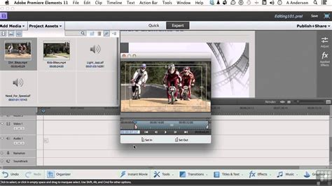 tutorial adobe premiere elements adobe premiere elements 11 tutorial editing clips in the