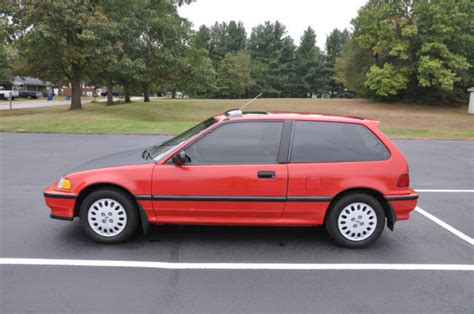 honda civic hatchback 1991 red for sale 2hged736xmh526402 1990 honda civic si