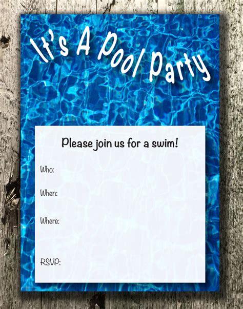 pool invite template 15 pool invitations printable psd ai vector eps