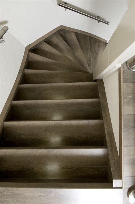 open trap bekleden met hout een betonnen trap met hout bekleden traprenovatie upstairs