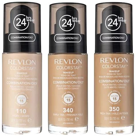 Revlon Colorstay Foundation Skin revlon colorstay foundation combination bottles