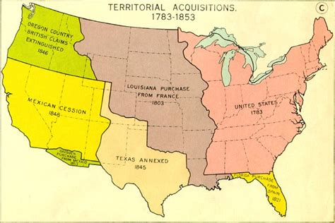 map of the united states in 1783 westward expansion website