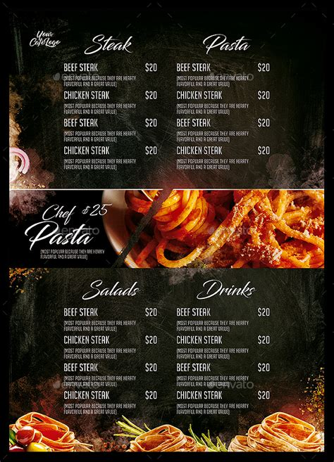 italian food menu  monkeybox graphicriver